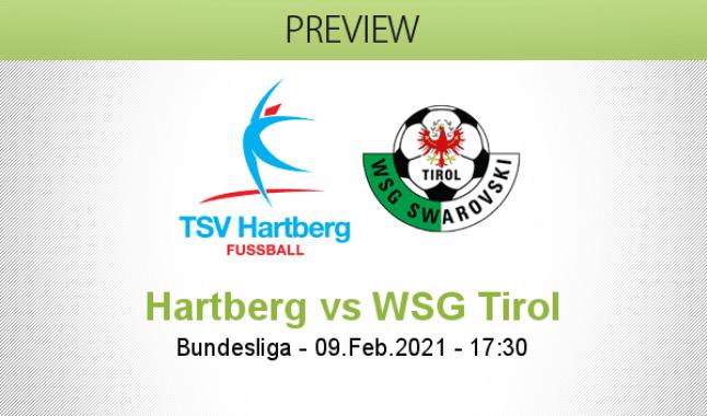 Hartberg vs WSG Tirol