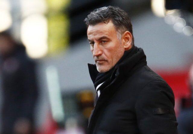 O treinador do Brest, Olivier Dall