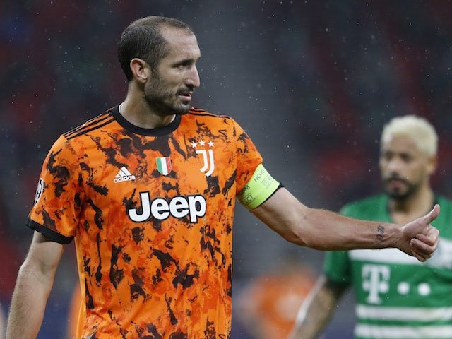 Juventus defender Giorgio Chiellini, pictured in Champions League action on November 4, 2020