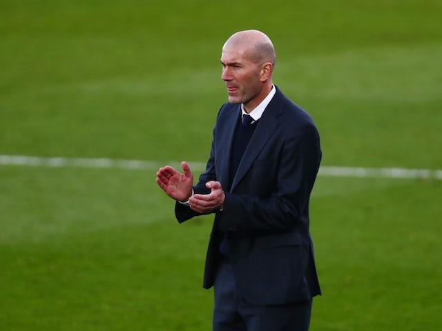 Real Madrid coach Zinedine Zidane, photographed on February 14, 2021