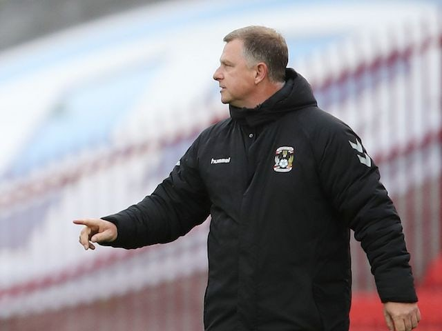 Coventry City manager Mark Robins, photographed in September 2020