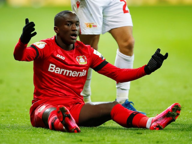 Moussa Diaby from Bayer Leverkusen portrayed in March 2020