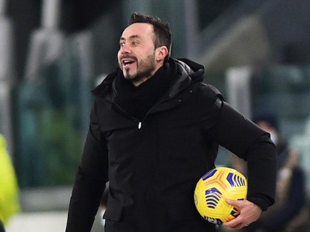 Roberto De Zerbi, coach of Sassuolo, photographed in January 2021