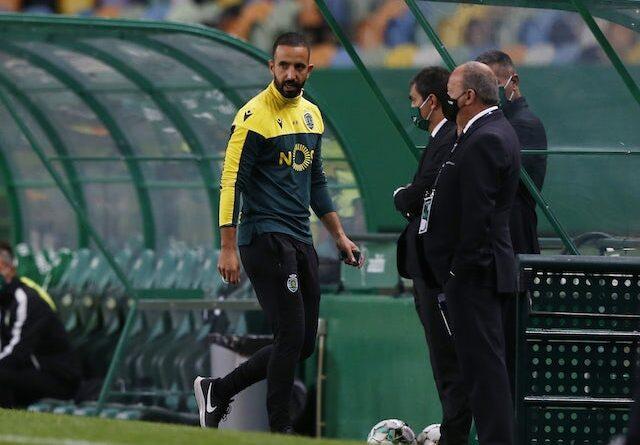 Pedro Gonçalves, do Sporting Lisboa, em ação a 1 de fevereiro de 2021