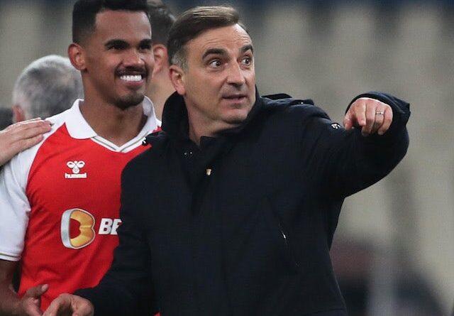 O treinador principal do Braga, Carlos Carvalhal, fotografado em dezembro de 2020