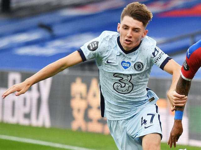 Billy Gilmour in action for Chelsea on July 7, 2020