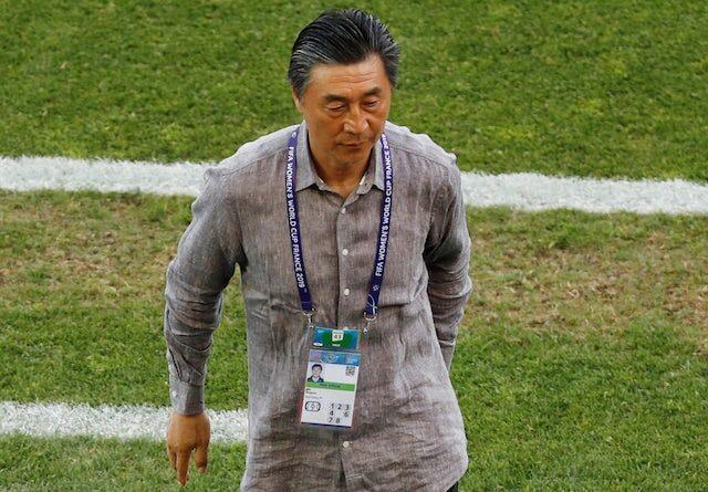 China coach Jia Xiuquan reacts after June 2019 match