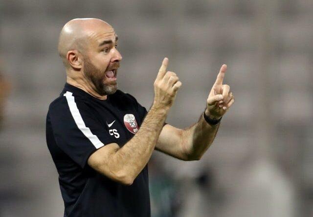 Qatar's head coach, Félix Sánchez Bas, on June 7, 2021