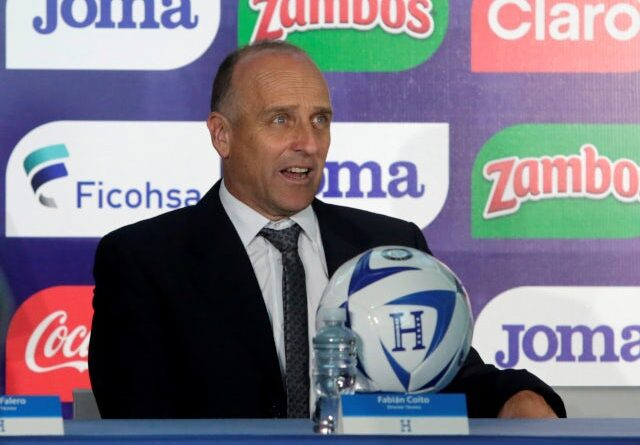 Fabian Coito is presented as the coach of Honduras in February 2019.
