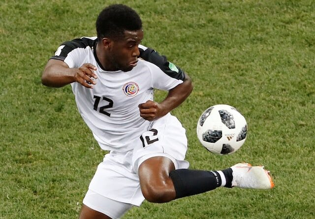 Joel Campbell in action for Costa Rica at the World Cup on June 27, 2018