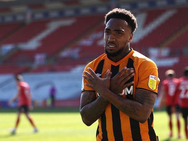 Hull City's Mallik Wilks will celebrate his goal in April 2021