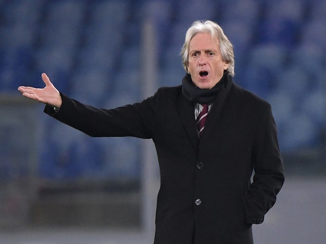 Benfica coach Jorge Jesus in the Europa League on February 18, 2021