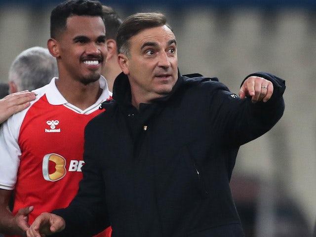 Braga head coach Carlos Carvalhal pictured in December 2020