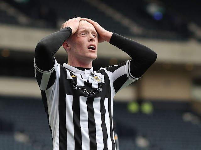 St. Mirren's Jake Doyle-Hayes looks dejected after the May 9, 2021 game