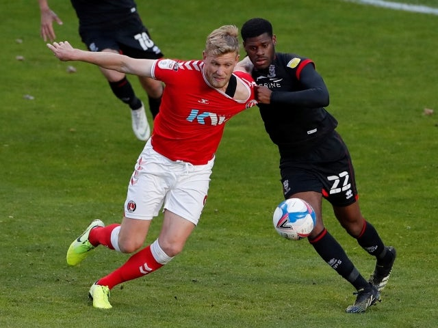 Charlton Athletic's Jayden Stockley in action against Lincoln City, pictured May 4, 2021