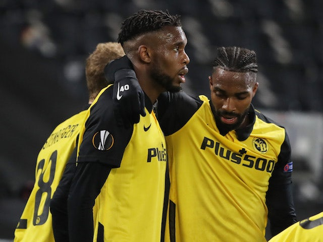Young Boys' Jordan Siebatcheu will celebrate his fourth goal in the Europa League on February 18, 2021