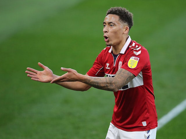 Marcus Tavernier on duty for Middlesbrough on November 21, 2020