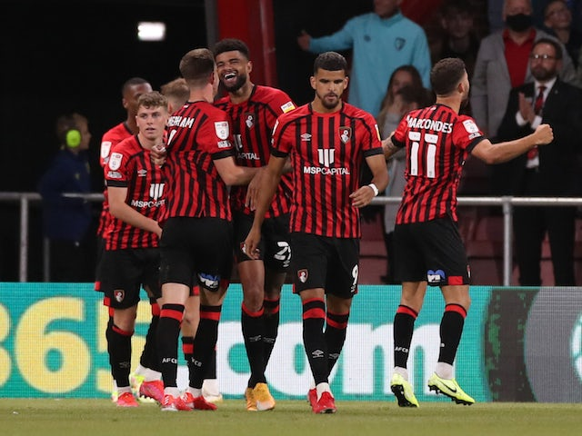 Bournemouth midfielder Philip Billing will celebrate his second goal with his teammates on August 6, 2021