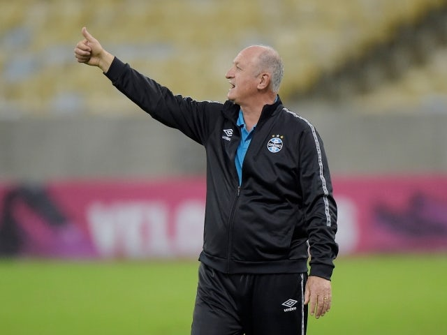 Gremio trainer Luis Felipe Scolari pictured on July 17, 2021