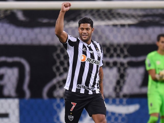 Atletico Mineiro's Hulk will celebrate his third goal on May 26, 2021