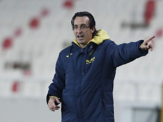 Villarreal manager Unai Emery pictured in December 2020