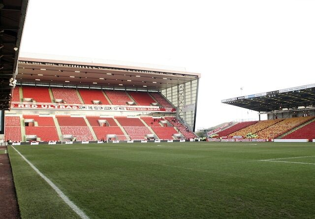 General view of Pittodrie Stadium in Aberdeen from 2008