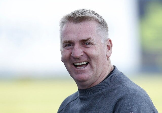 Aston Villa manager Dean Smith ahead of the game on August 24, 2021