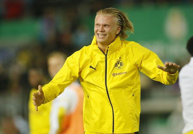 Erling Braut Haaland from Borussia Dortmund pictured on August 8, 2021