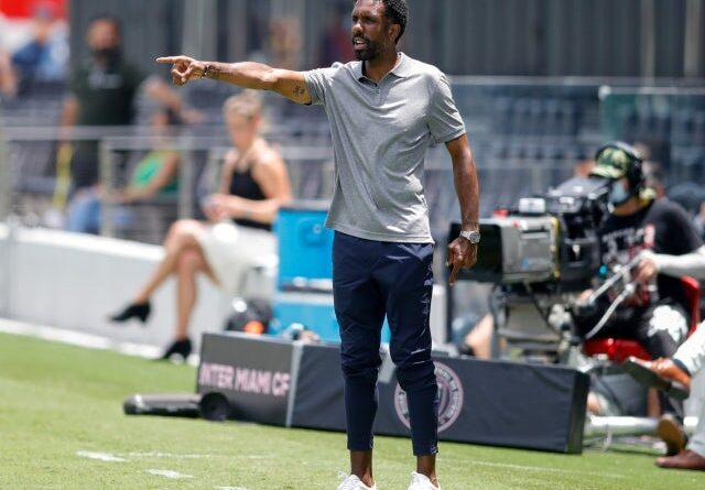 CF Montreal head coach Wilfried Nancy reacts from the sidelines on May 22, 2021