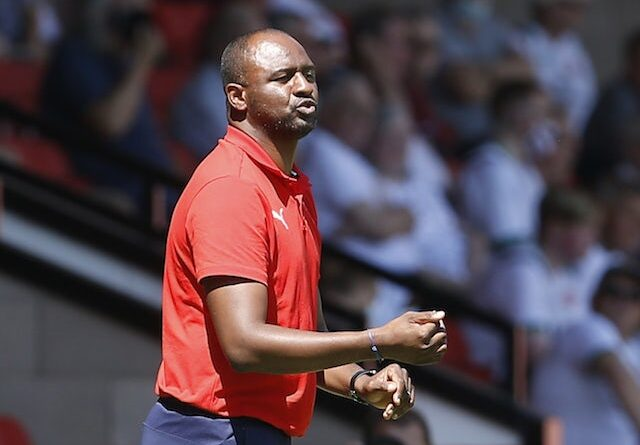 Crystal Palace manager Patrick Vieira pictured in July 2021