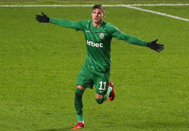 Ludogorets Razgrads Kiril Despodov pictured in December 2020