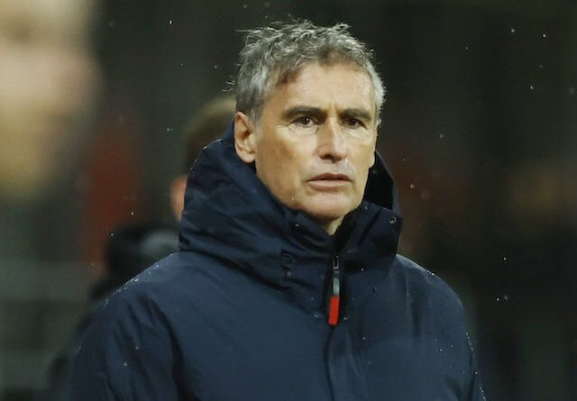 Brest manager Olivier Dall'Oglio pictured in February 2021
