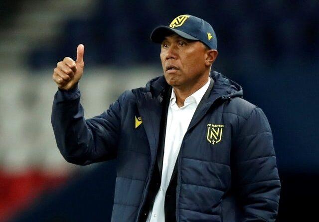 Nantes coach Antoine Kombouare on March 14, 2021
