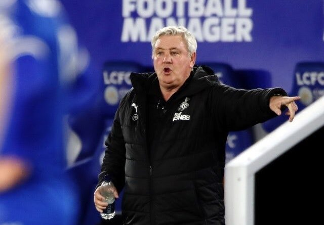 Newcastle United manager Steve Bruce reacts on May 7, 2021