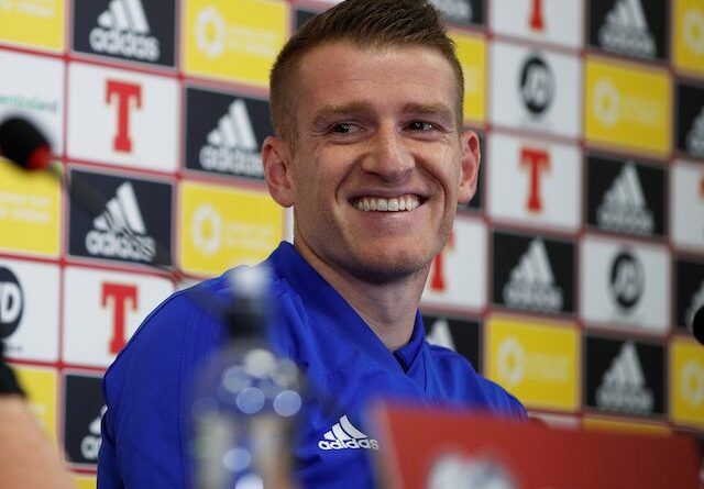 Steven Davis at a press conference in Northern Ireland on September 8, 2019