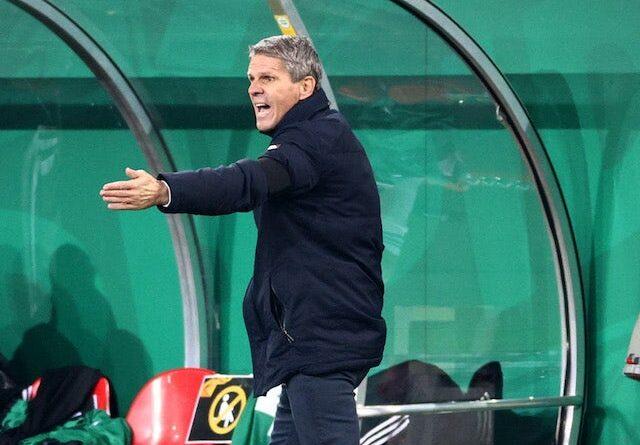 Rapid Vienna trainer Dietmar Kuhbauer pictured on November 5, 2020