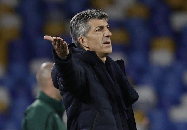 Real Sociedad head coach Imanol Alguacil pictured in December 2020