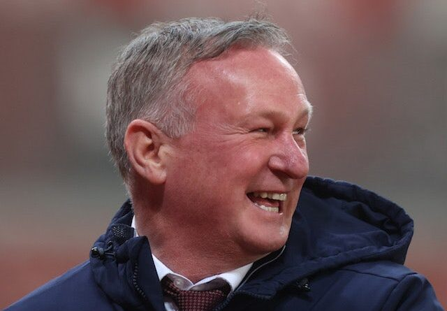 Stoke City manager Michael O'Neill pictured in December 2020