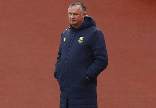 Stoke City Manager Michael O'Neill pictured in October 2020