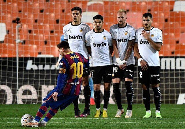Barcelona's Lionel Messi will face Valencia in La Liga on May 2, 2021