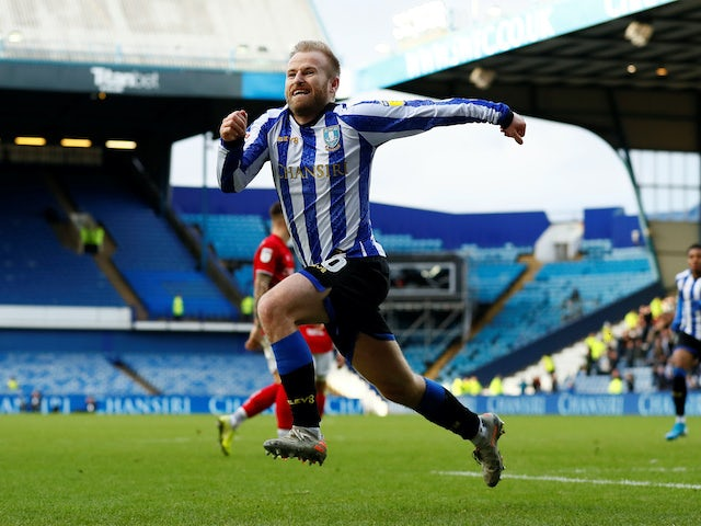 Barry Bannan celebrates his goal for Sheffield Wednesday on December 22, 2019