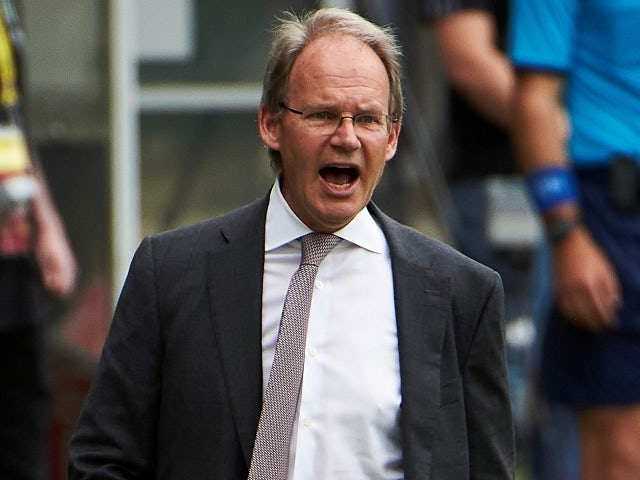 Brian Schmetzer, Seattle Sounders head coach, reacts on May 9, 2021