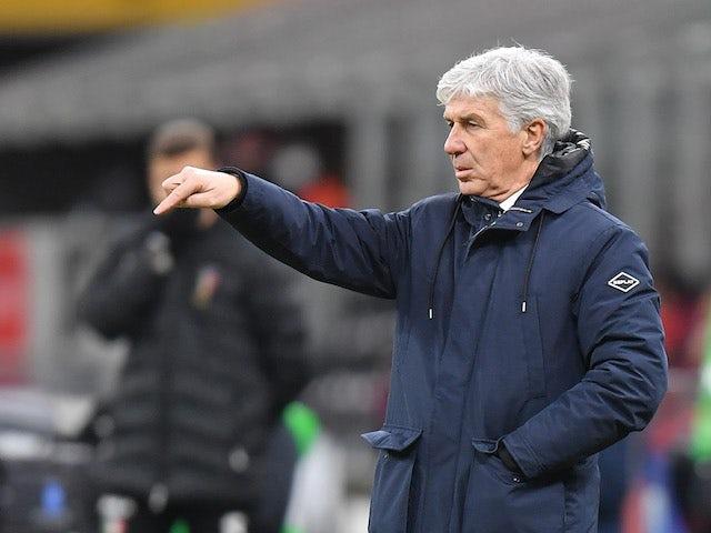 Atalanta coach Gian Piero Gasperini during the game on January 23, 2021