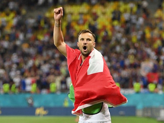 The Swiss striker Haris Seferovic pictured on June 28, 2021