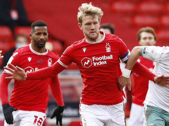 Joe Worrall of Nottingham Forest pictured in February 2021