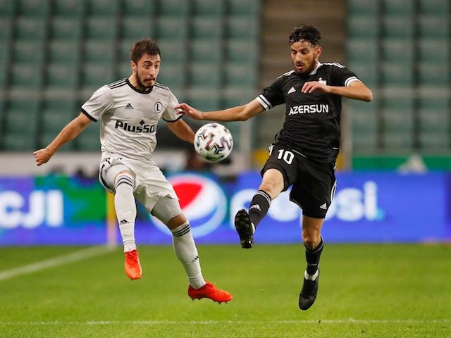 Josip Juranovic from Legia Warsaw pictured in October 2020