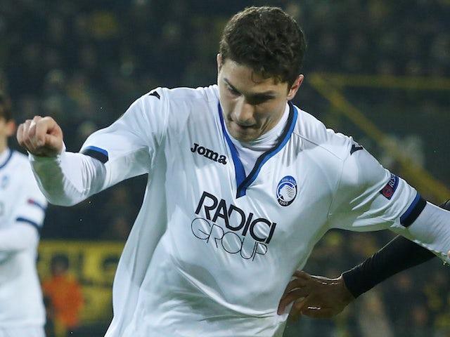 Mattia Caldara in action for Atalanta in the Europa League on February 15, 2018