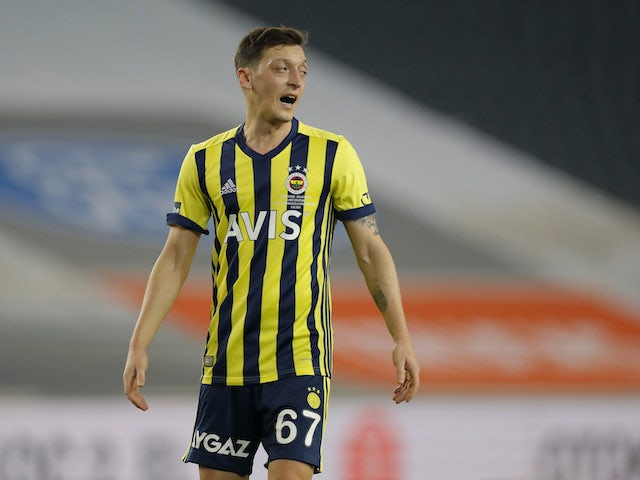 Fenerbahces Mesut Özil pictured in February 2021