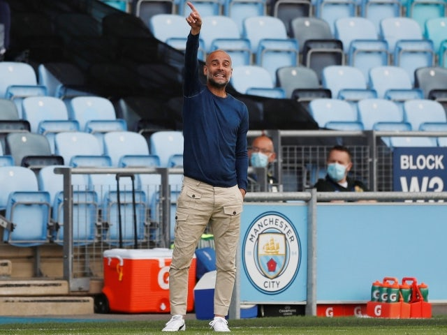 Manchester City manager Pep Guardiola pictured on August 3, 2021