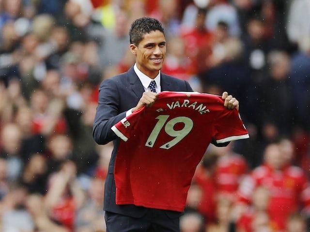 Manchester United center-back Raphael Varane pictured on August 14, 2021